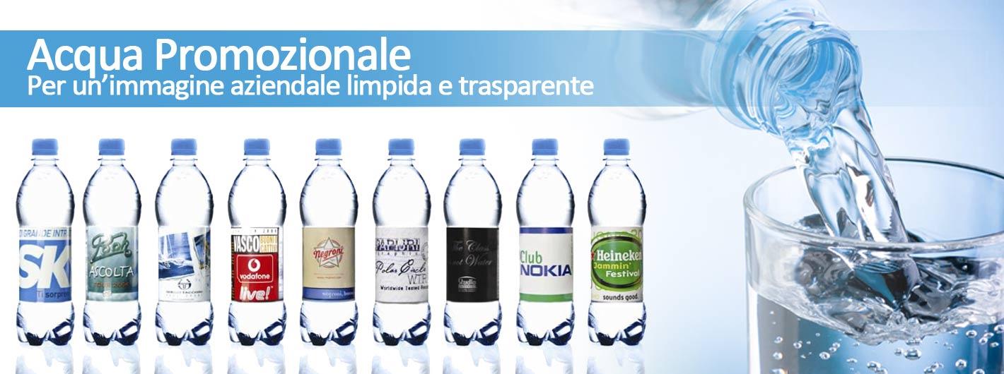 Bottigliette d'acqua personalizzabili