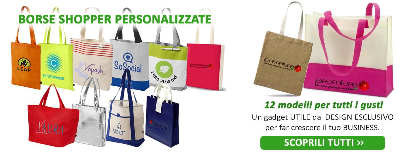 Borse shopper personalizzate - 12 modelli per tutti i gusti