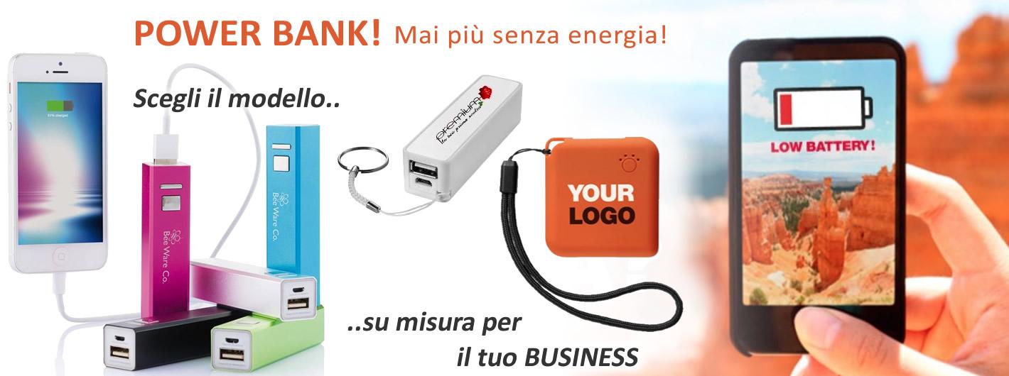 Power Bank - batteria personalizzata per telefoni