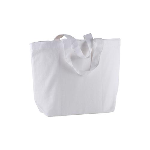 Shopper Cotone Manici Corti Bianco
